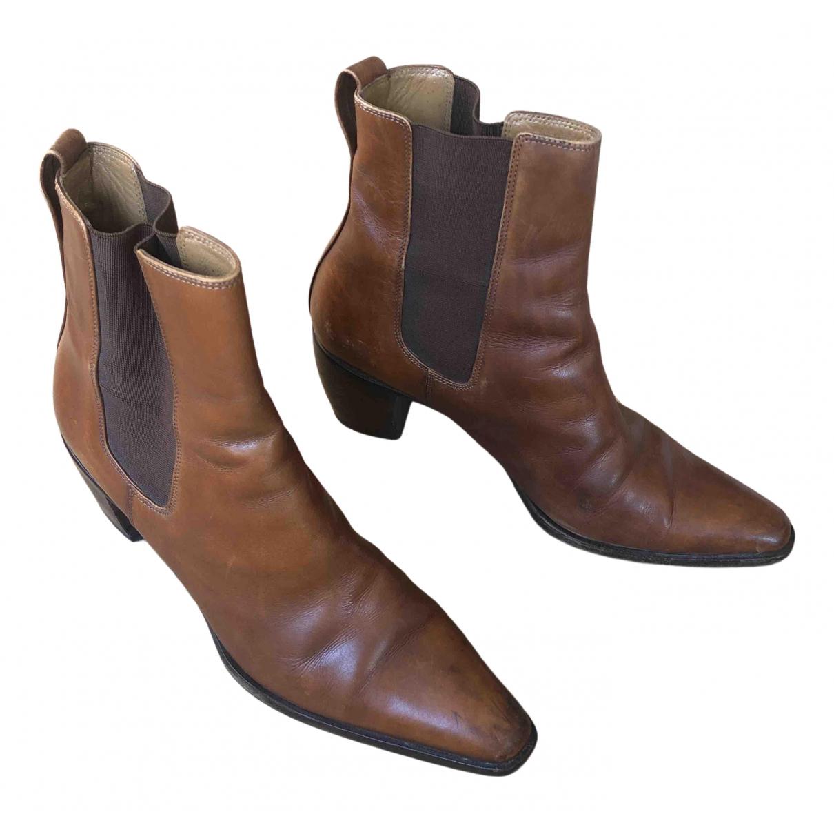 Carel - Boots   pour femme en cuir - camel