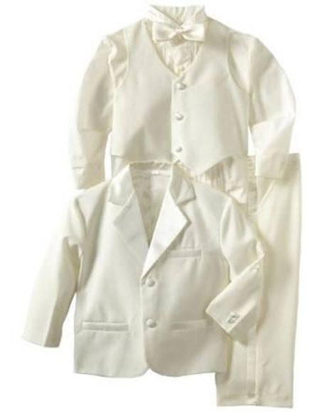 Boys Kids ~ Children Off White Tuxedo