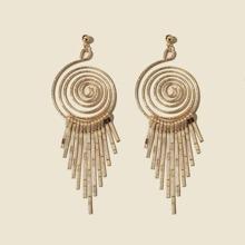 Spiral Tassel Drop Earrings