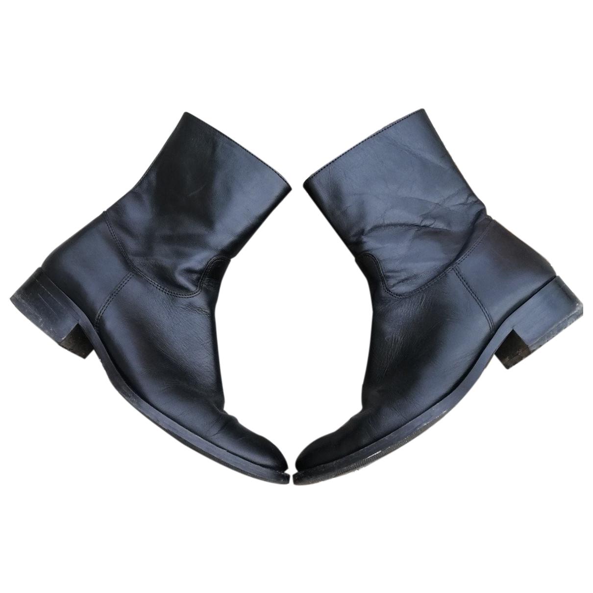 Minelli - Boots   pour femme en cuir - noir