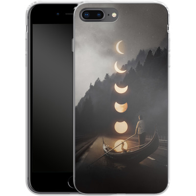 Apple iPhone 8 Plus Silikon Handyhuelle - Moon Ride von Enkel Dika