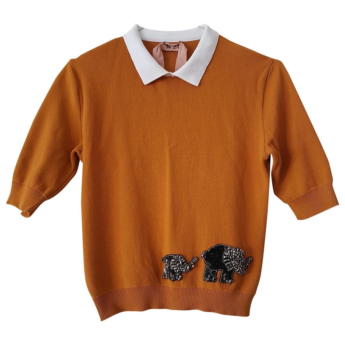 N°21 - Top   pour femme en coton - orange