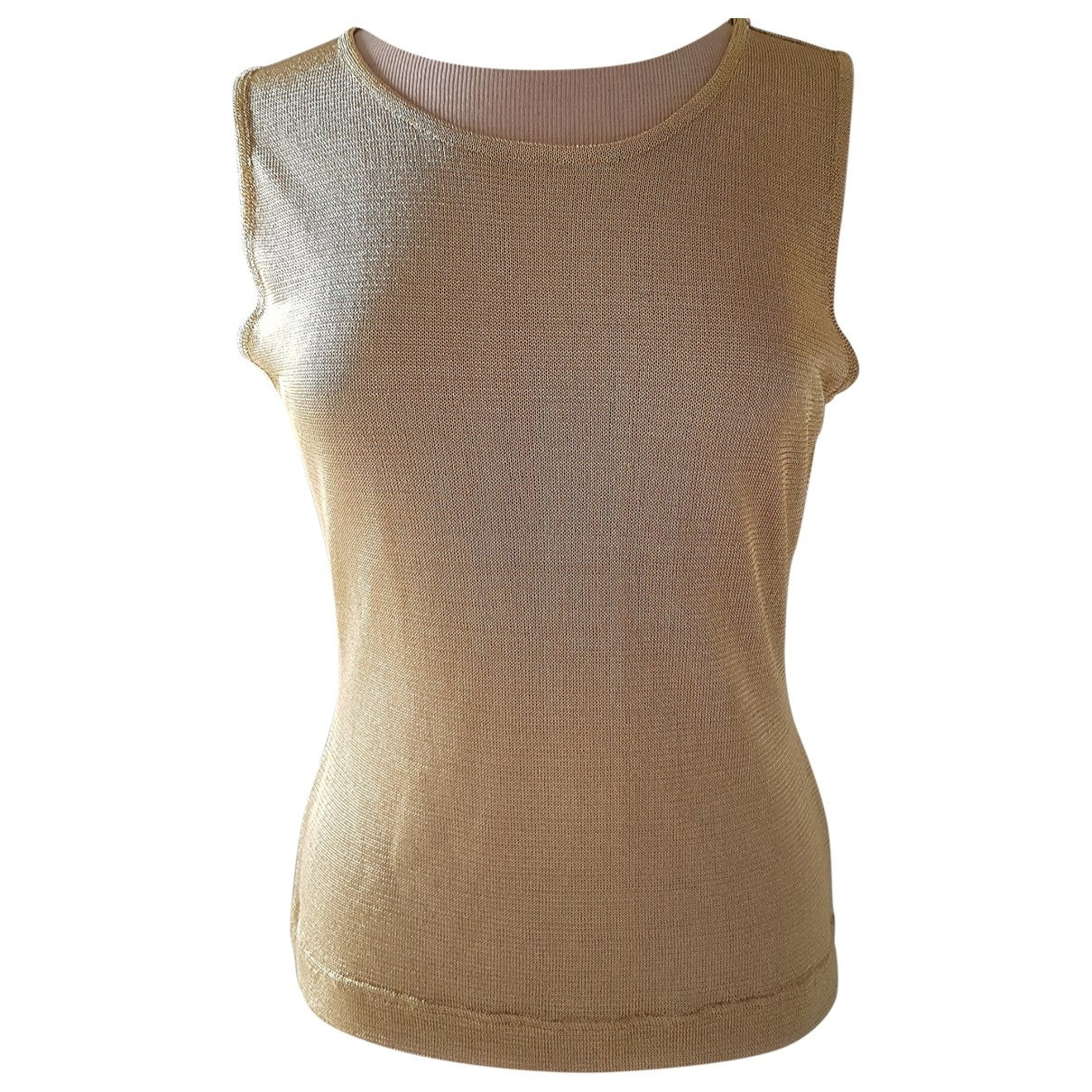 Moschino \N Top in  Gold Polyester