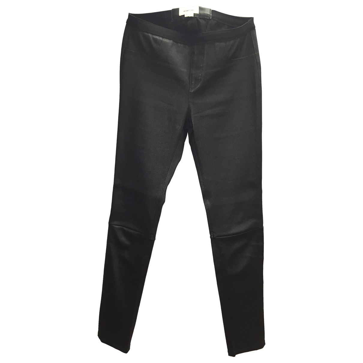 Helmut Lang \N Black Leather Trousers for Women 4 US