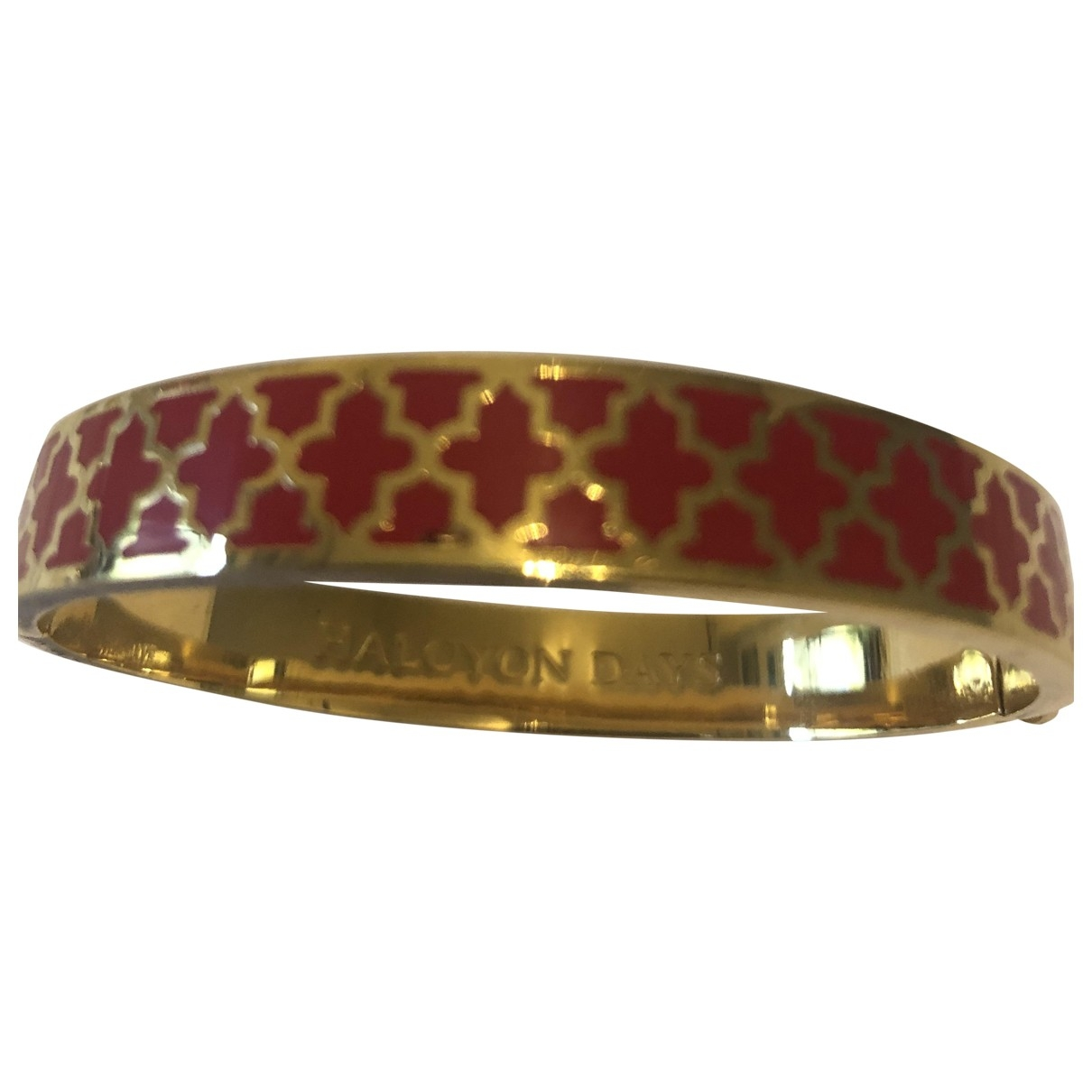 Non Signé / Unsigned \N Red Gold plated bracelet for Women \N