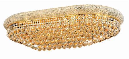 V1800F40SG/EC 1800 Primo Collection Flush Mount L:40In W:24In H:12In Lt:24 Gold Finish (Elegant Cut