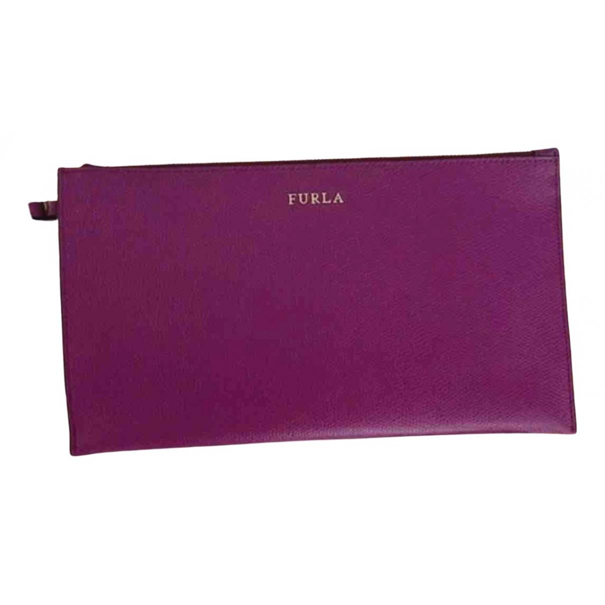 Furla - Pochette   pour femme en cuir - violet