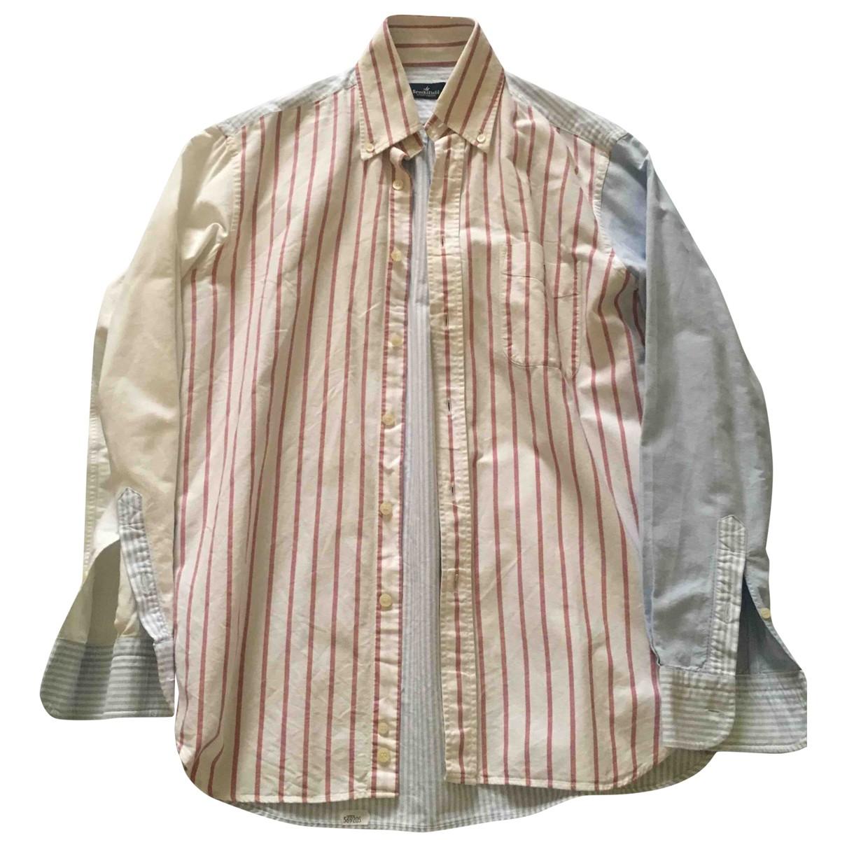 Brooksfield - Chemises   pour homme en coton - bleu