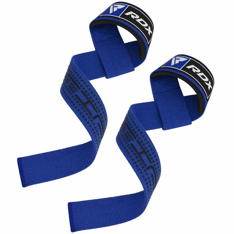 RDX S4 Supports de Poignes D'halterophilie Bleu Coton