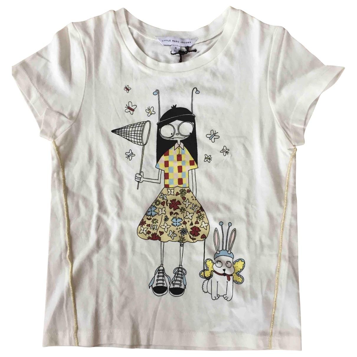 Little Marc Jacobs - Top   pour enfant en coton - ecru