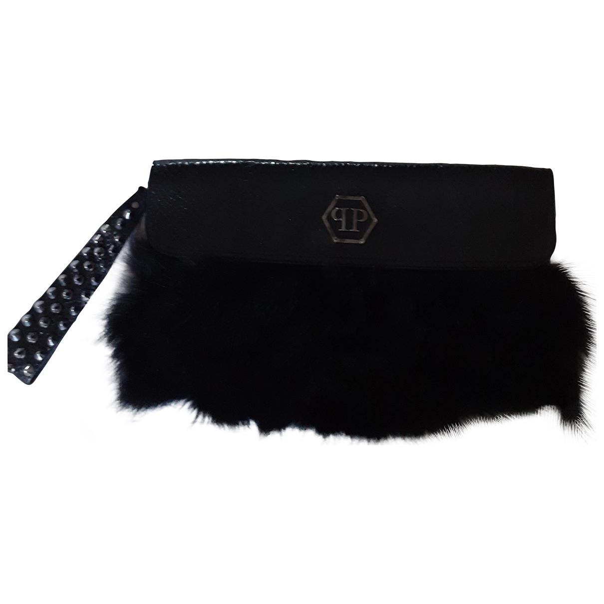 Philipp Plein \N Black Exotic leathers Clutch bag for Women \N
