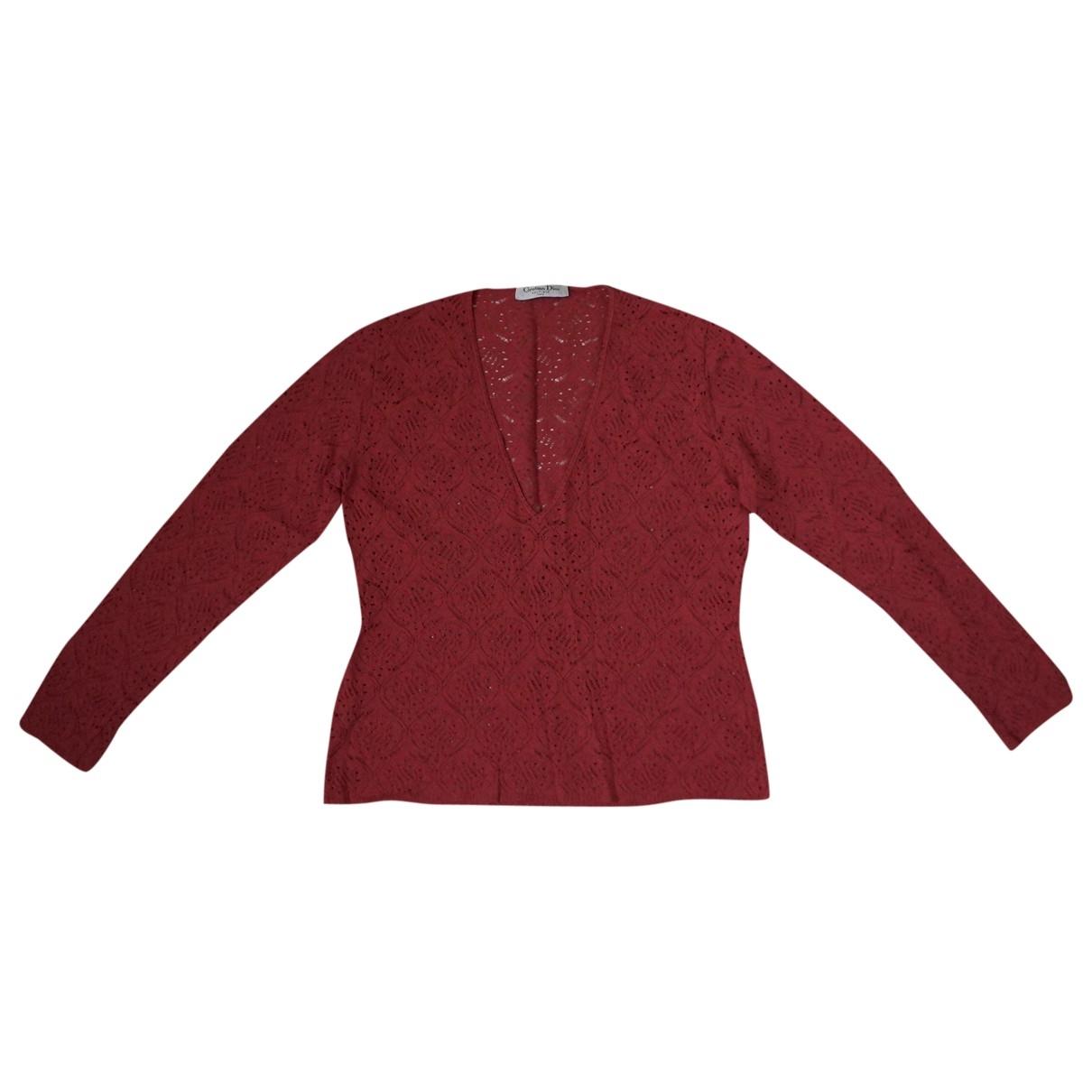 Dior \N Pullover in  Rot Viskose