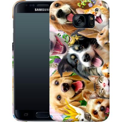 Samsung Galaxy S7 Smartphone Huelle - Selfie Backyard Pals von Howard Robinson