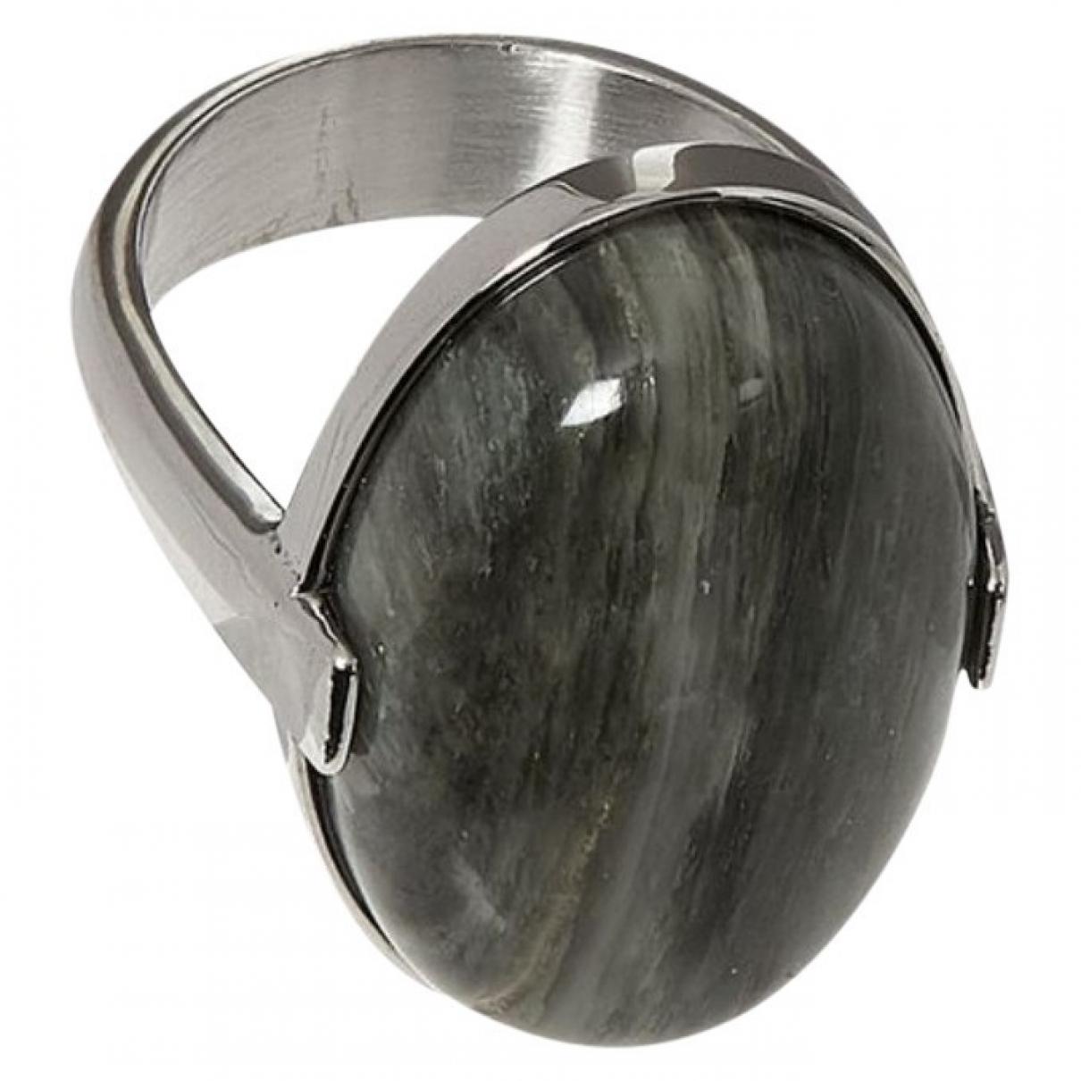 Dyrberg/kern \N Ring in  Grau Metall