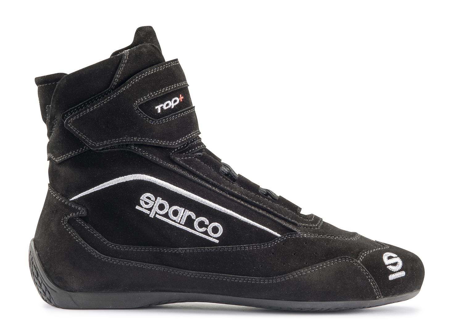 Sparco 00121047NR Black Top+ SH-5 Driving Shoes EU 47 | US 13.5