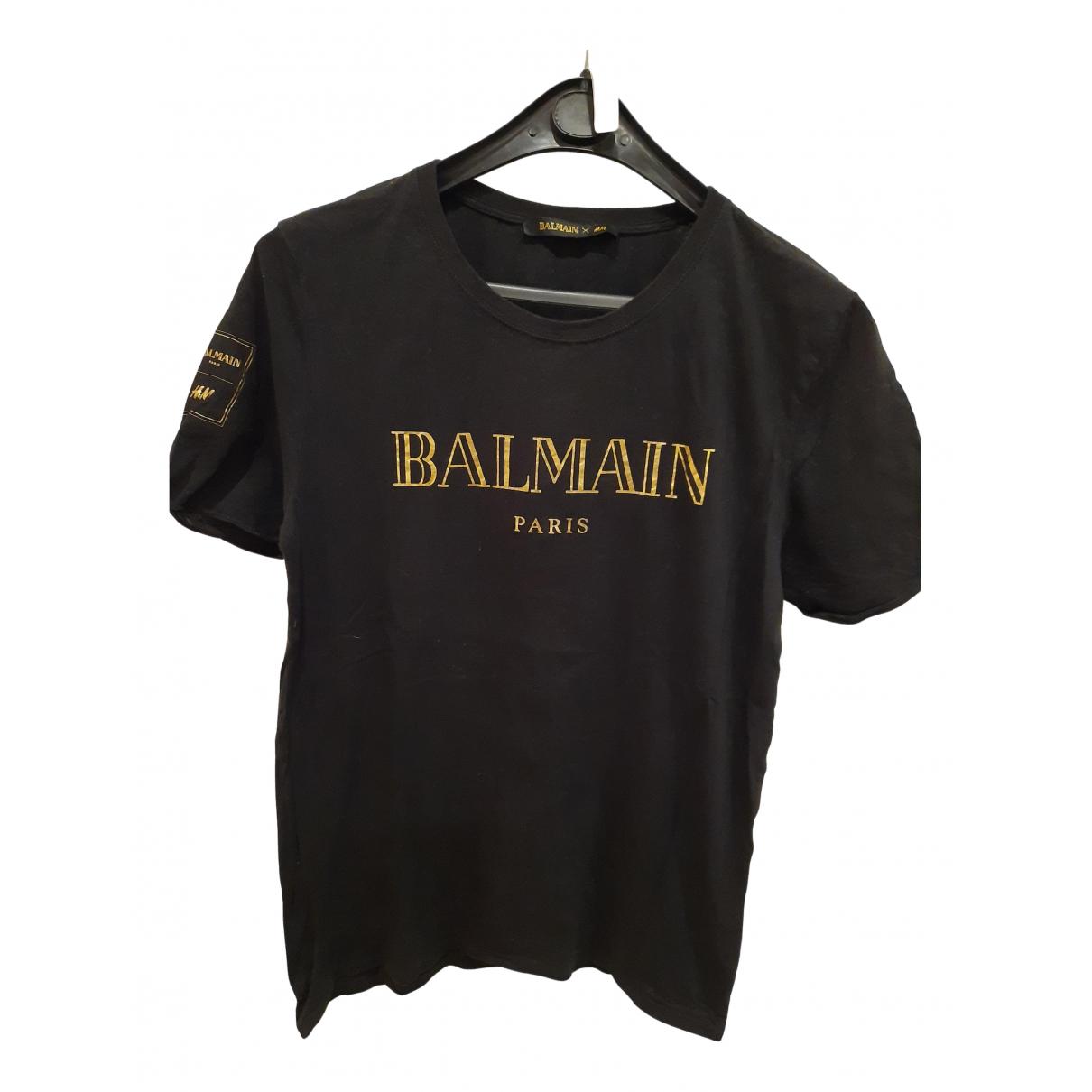 Balmain For H&m \N Top in  Schwarz Baumwolle
