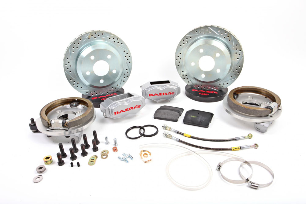 Baer Brakes Brake System 12 Inch Rear SS4 with Park Brake Silver 60-87 GM C-10 Truck