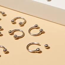 12pcs Men Simple Nose Ring