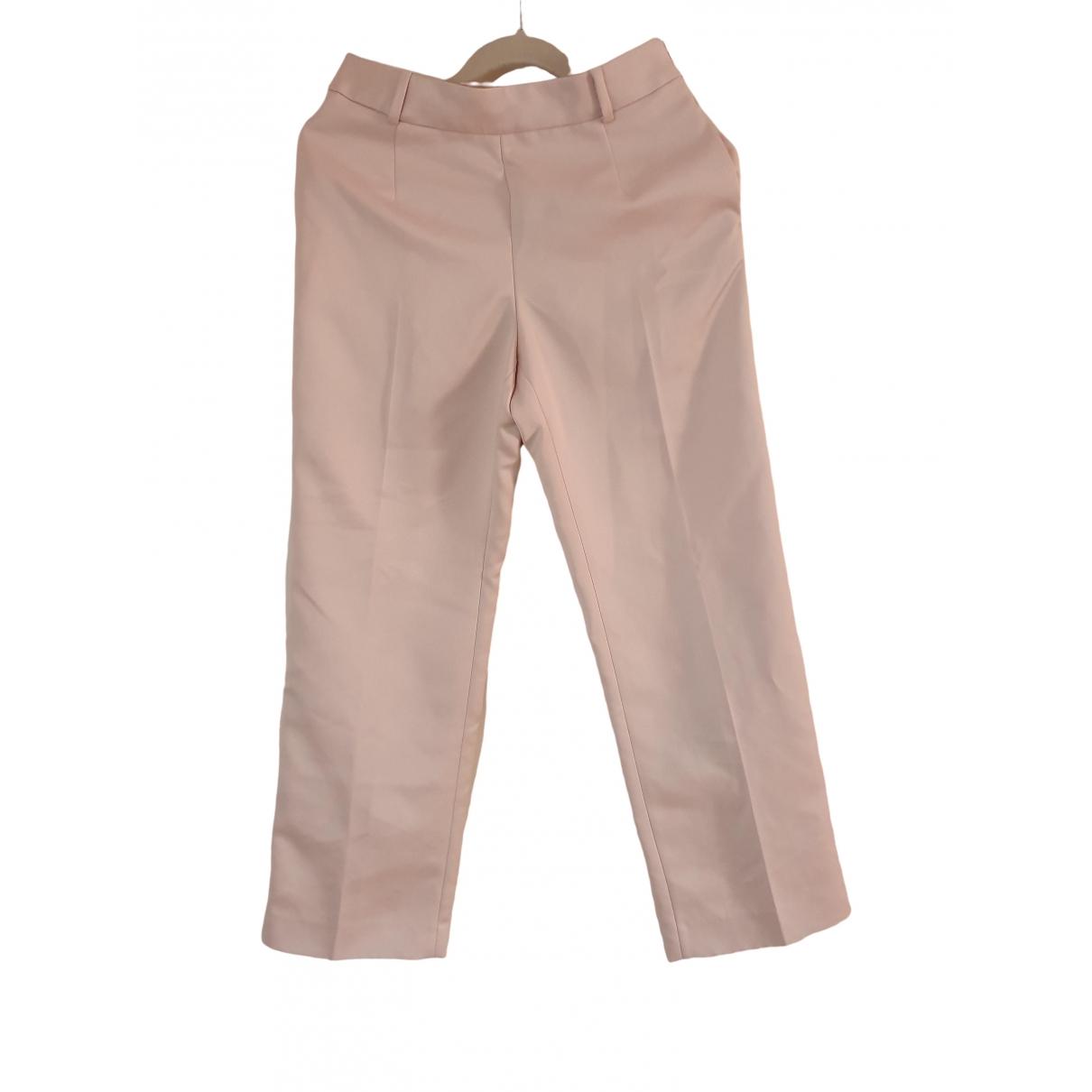 Ermanno Scervino \N Beige Trousers for Women 40 IT