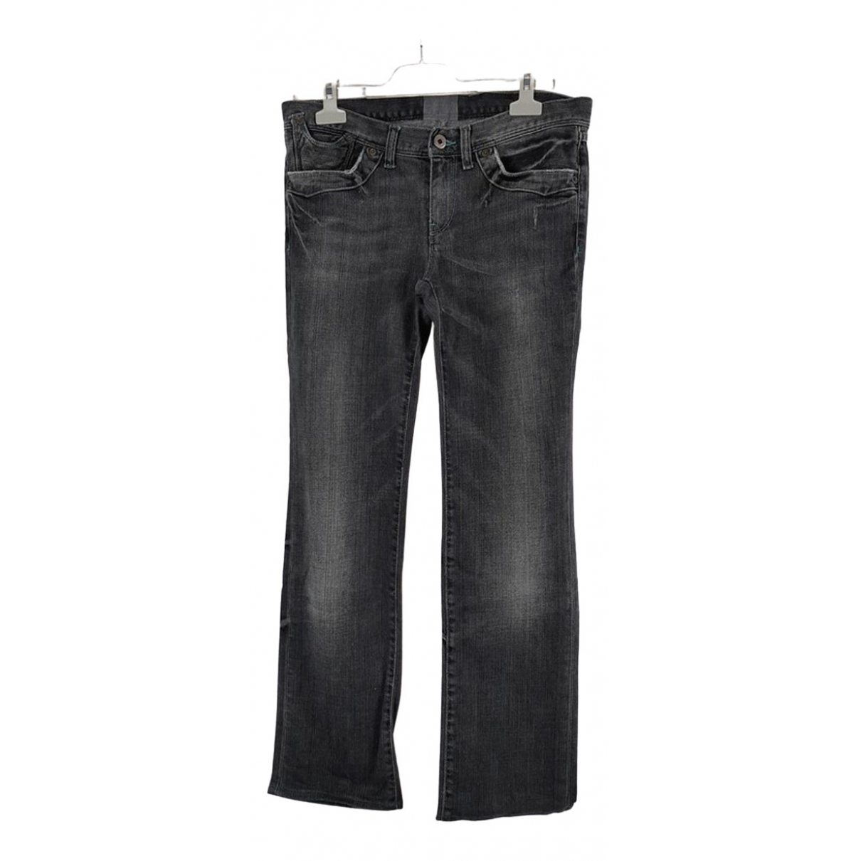 Polo Ralph Lauren \N Grey Cotton - elasthane Jeans for Women 39 FR