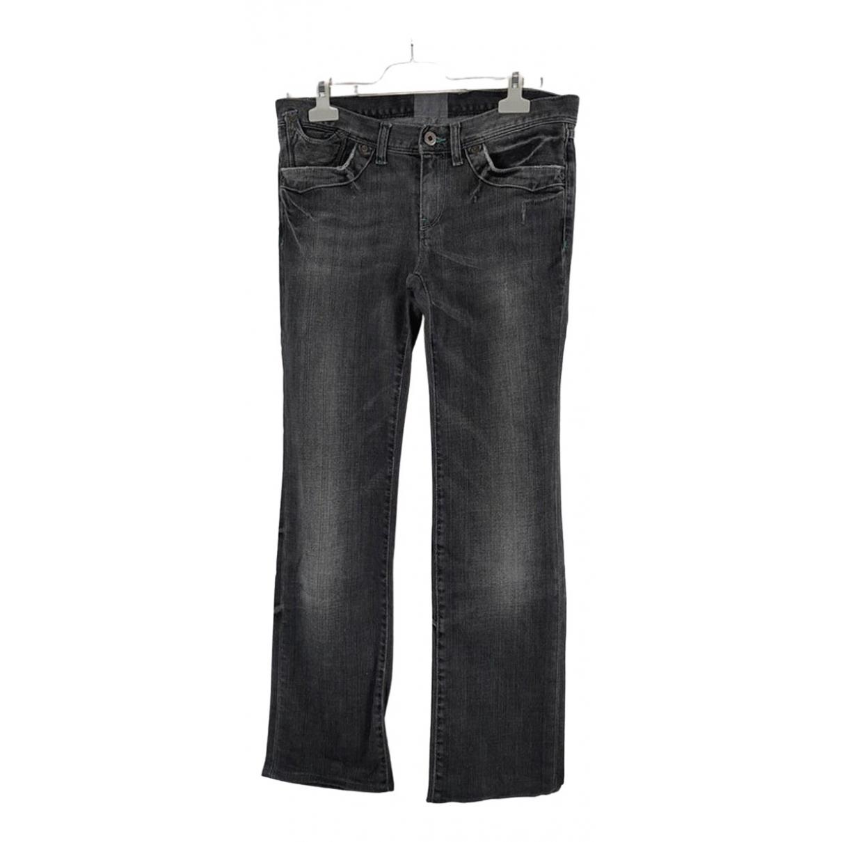 Polo Ralph Lauren \N Grey Cotton - elasthane Jeans for Women 39 FR