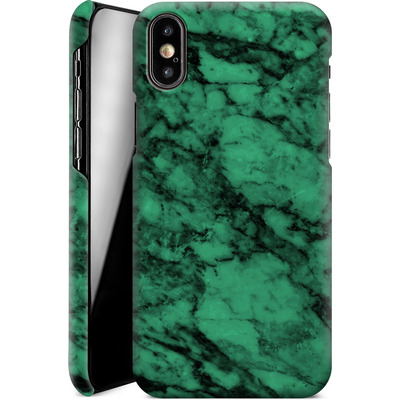 Apple iPhone XS Smartphone Huelle - Green Marble von caseable Designs