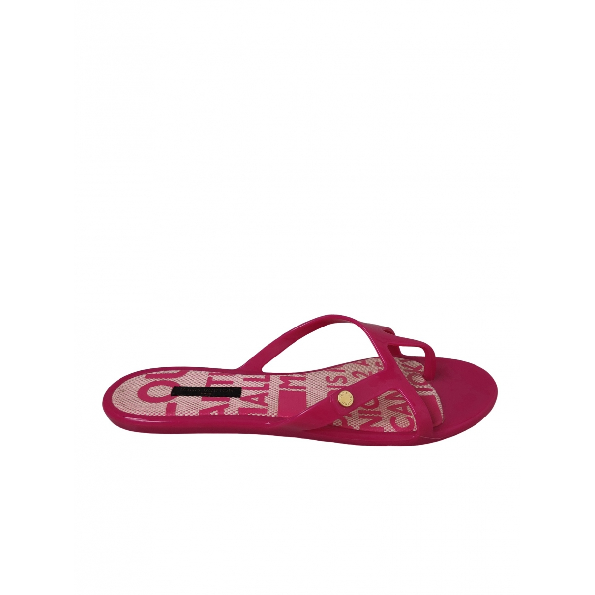 Louis Vuitton \N Sandalen in  Rosa Kautschuk