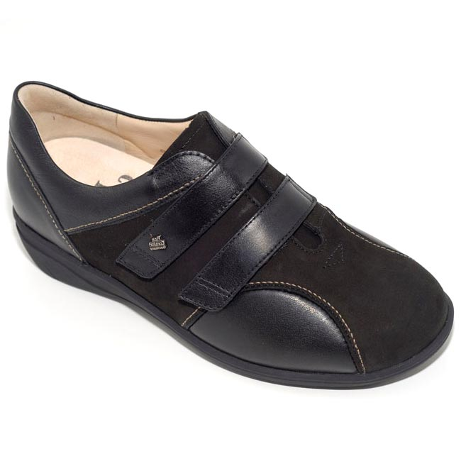 Finn Comfort Luttich Black Nubuck Soft Footbed 35 Uk