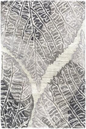 Banshee BAN-3348 2 x 3 Rectangle Modern Rug in Light Grey  Charcoal