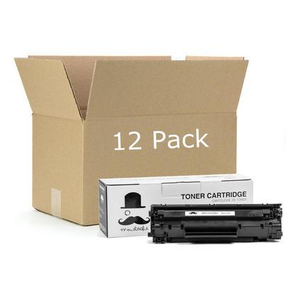 Compatible HP 78X CE278X Black LaserJet Toner Cartridge by Moustache, 12 Pack - High Yield