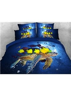 Fish and Sea Turtle 3D Animal Comforter Soft Lightweight Warm 5-Piece Comforter Sets