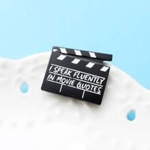 Kinder Brosche mit Filmschindel Design