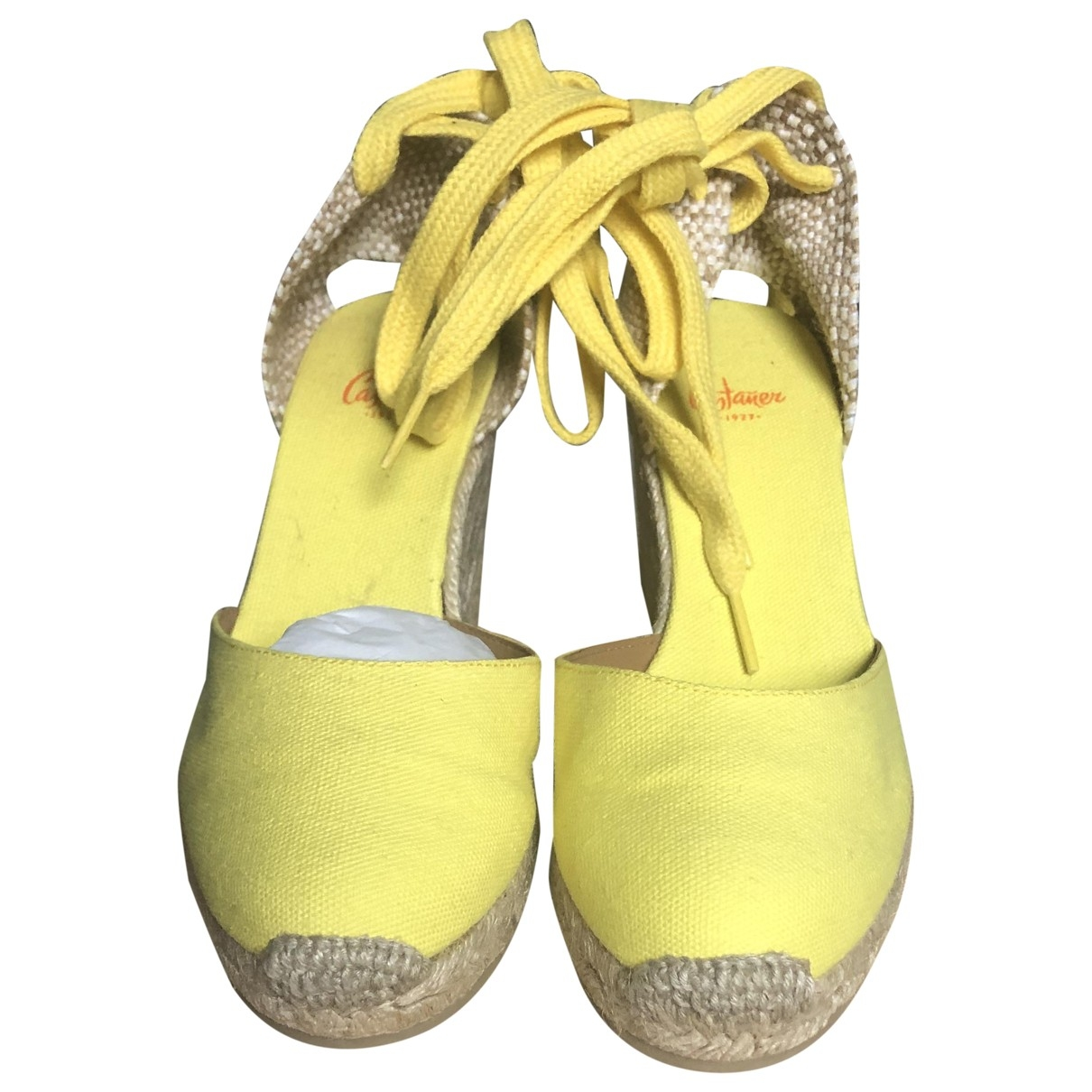 Casadei - Espadrilles   pour femme en toile - jaune