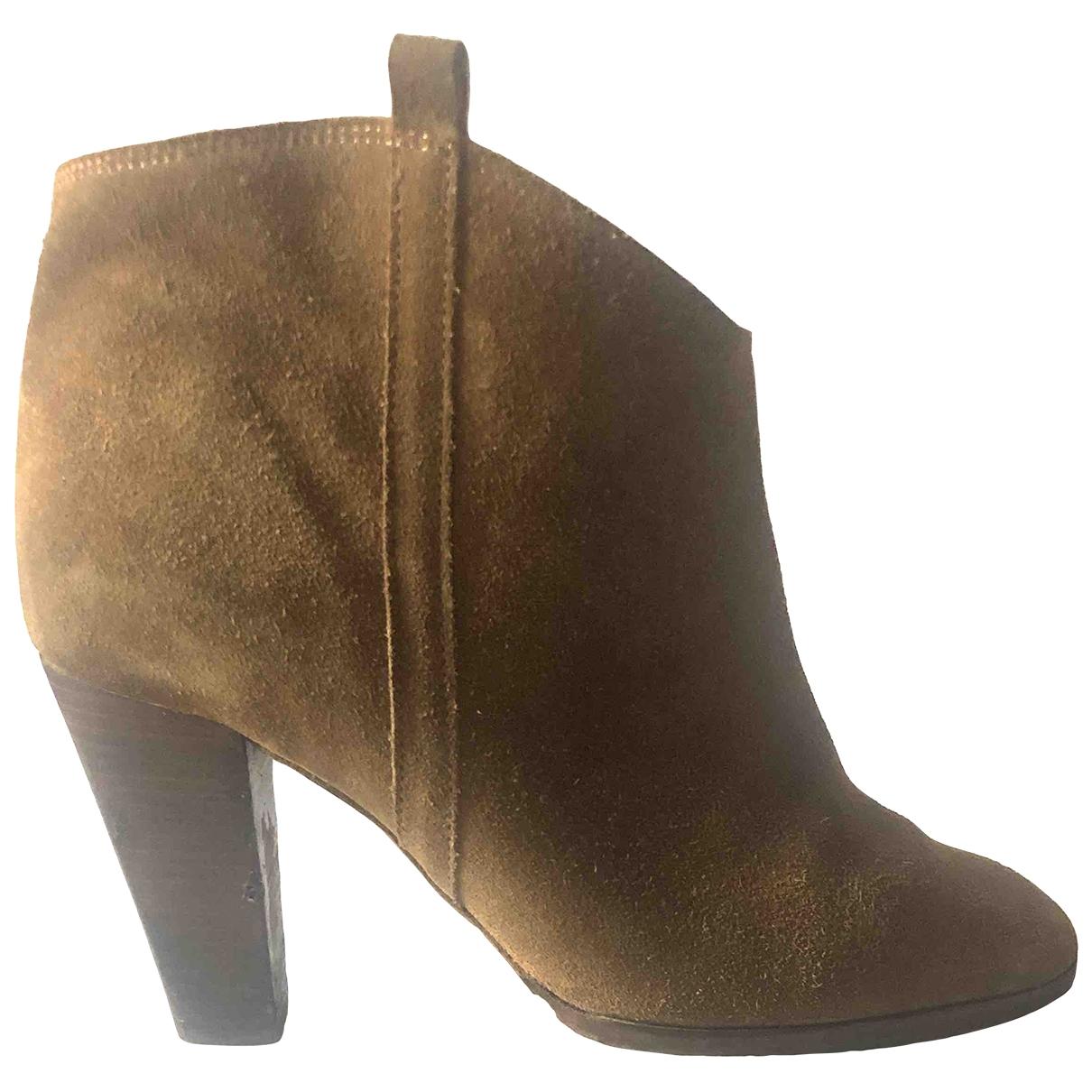 Isabel Marant - Boots Dicker pour femme en suede - camel
