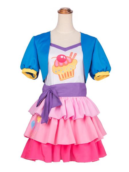 Milanoo My Little Pony: Friendship Is Magic Cosplay Costume Pinkie Pie Chiffon Cosplay Set