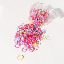 300 piezas goma de pelo desechable vistosa de niñitas