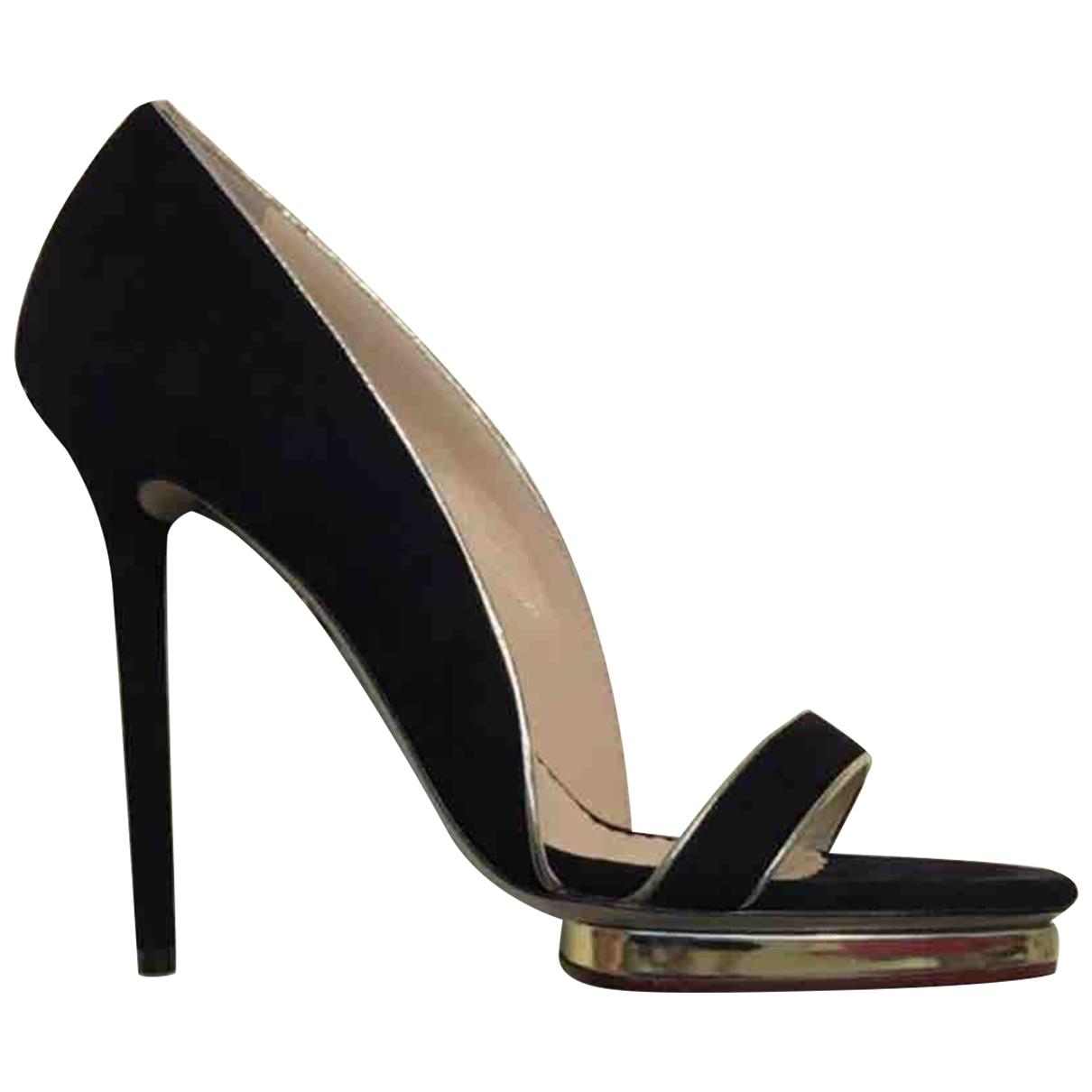 Charlotte Olympia \N Black Suede Heels for Women 41 EU