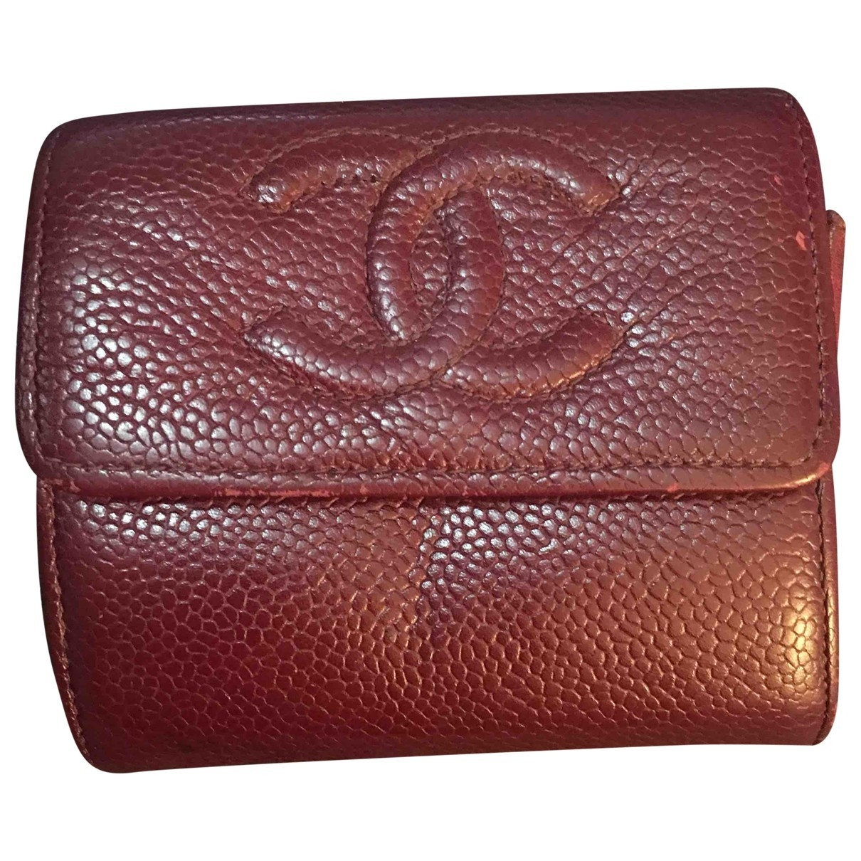 Chanel \N Burgundy Leather Purses, wallet & cases for Women \N