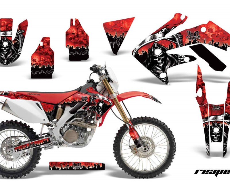 AMR Racing Dirt Bike Decal Graphics Kit MX Sticker Wrap For Honda CRF250X 2004-2017áREAPER RED