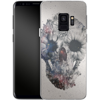 Samsung Galaxy S9 Silikon Handyhuelle - Floral Skull 2 von Ali Gulec