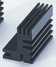 Fischer Elektronik Heatsink, 8.1K/W, 50 x 30 x 28mm, Black