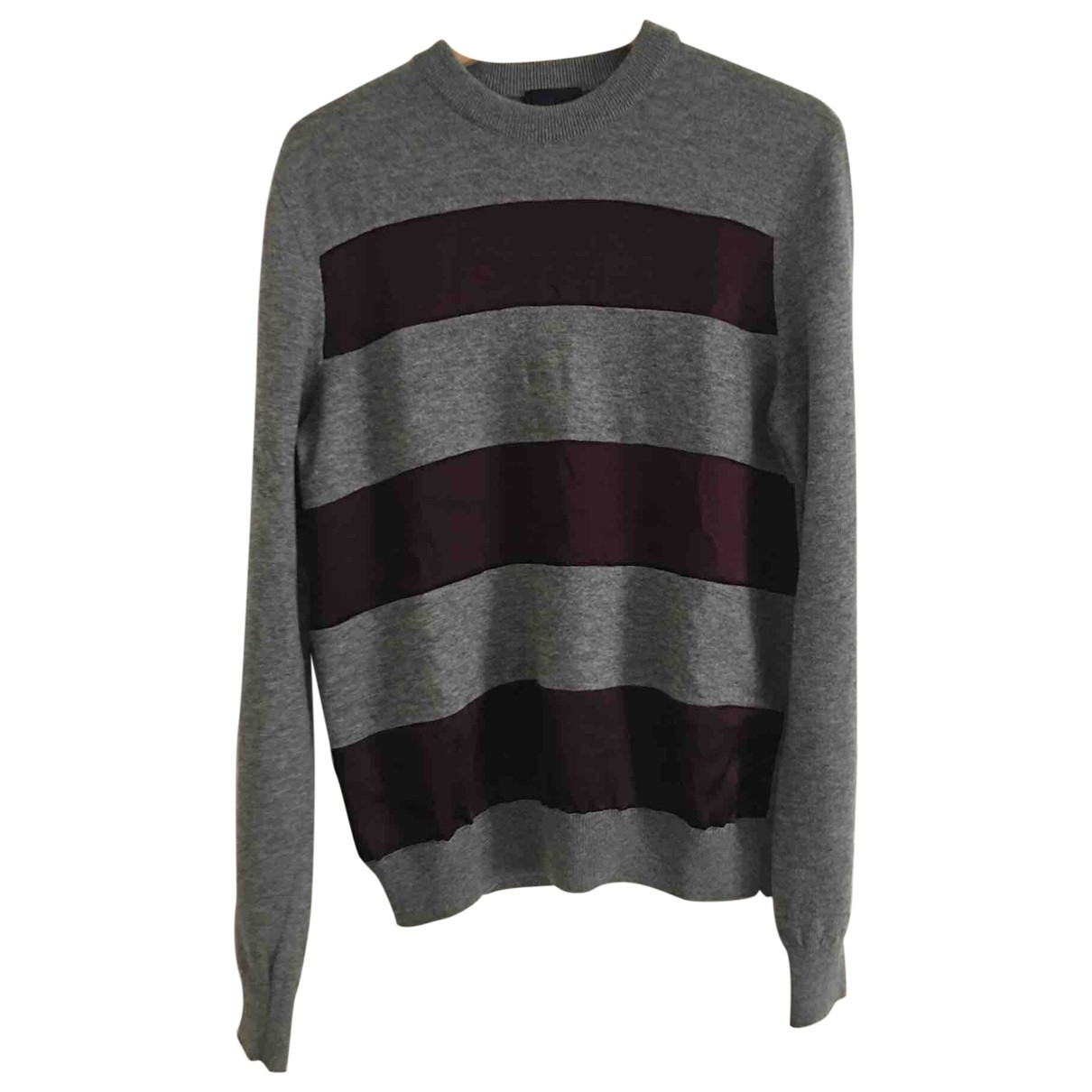 Lanvin \N Pullover.Westen.Sweatshirts  in  Anthrazit Wolle