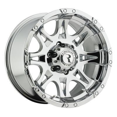 Raceline Wheels Raptor, 18x9 with 8x6.5 Bolt Pattern - Chrome - 983-8908020