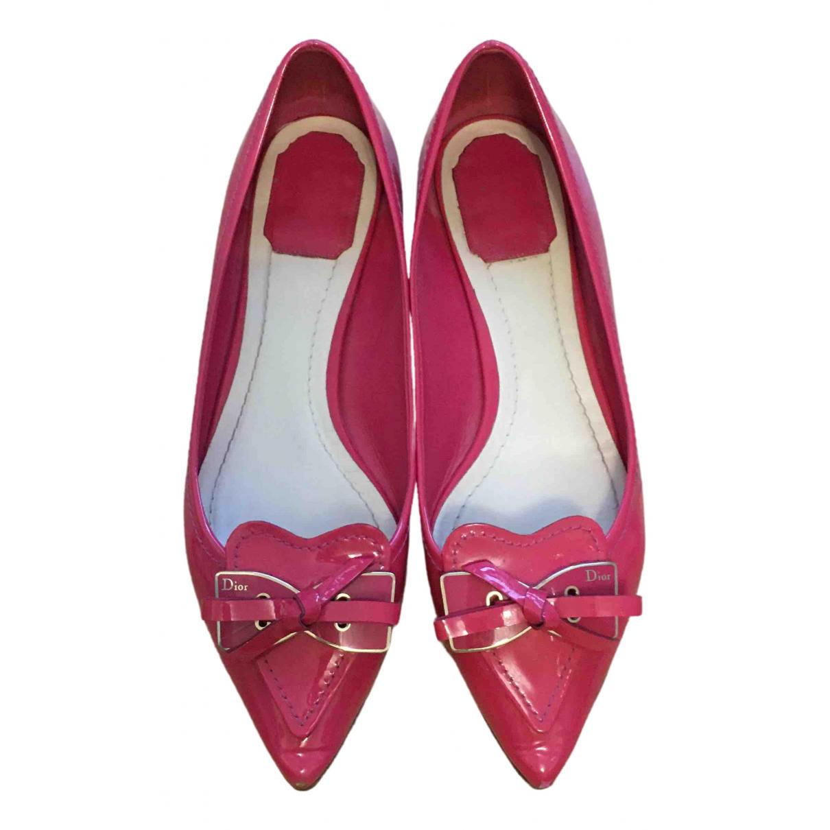 Dior \N Ballerinas in  Rosa Lackleder