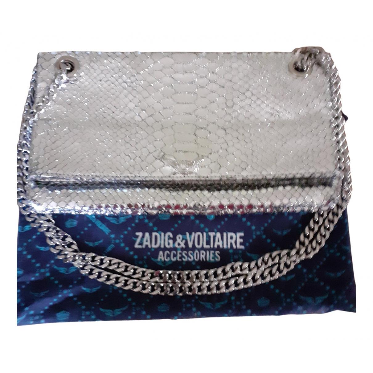 Zadig & Voltaire - Pochette Rock pour femme en cuir verni - argente