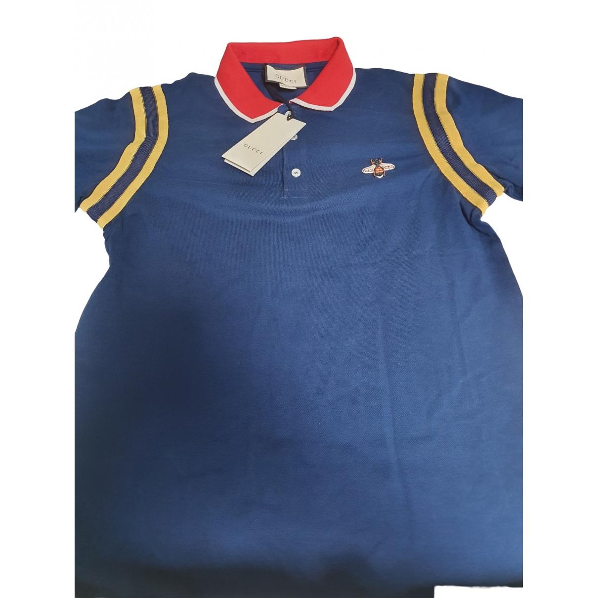 Gucci \N Poloshirts in  Blau Baumwolle