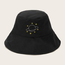 Planet Embroidery Bucket Hat