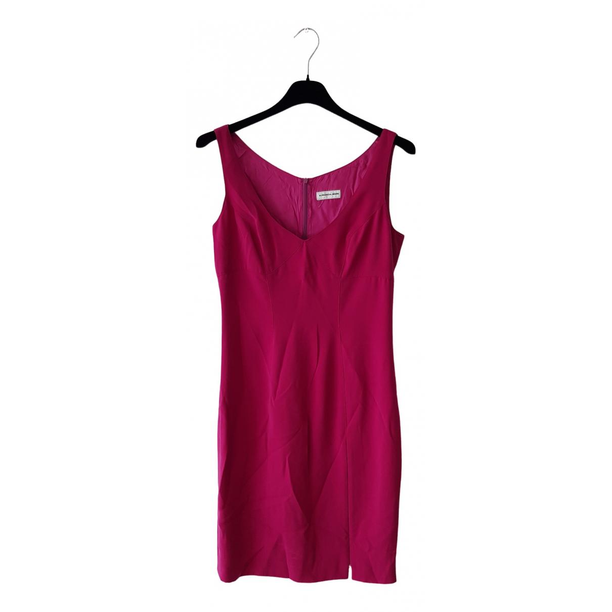 Mugler \N Kleid in  Rosa Polyester