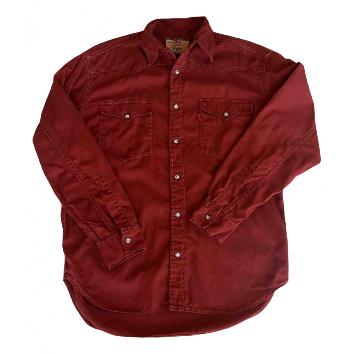 Levis Vintage Clothing - Chemises   pour homme en denim - rouge