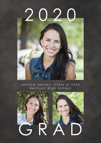 Graduation Announcements 5x7 Cards, Standard Cardstock 85lb, Card & Stationery -Modern Grad